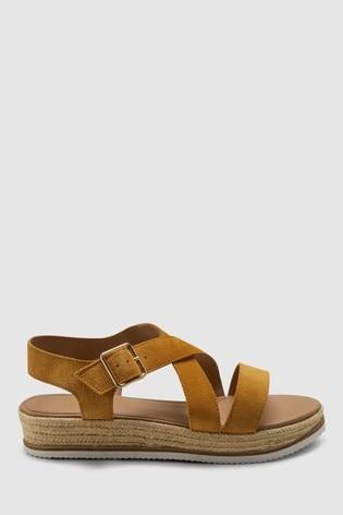 Ochre Forever Comfort® Flatform Sandals