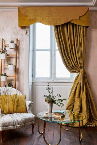 The Chateau by Angel Strawbridge Bamboo Pencil Pleat Curtains