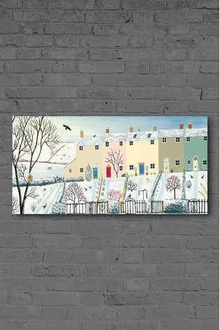 Winter Row by Jo Grundy Canvas