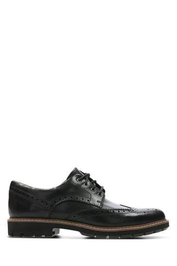Clarks Black Batcombe Wing Shoe