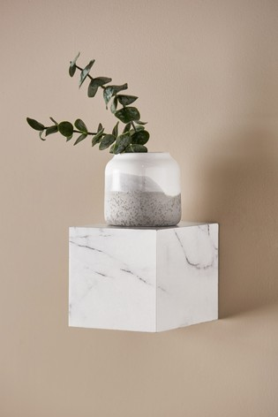 Marble Effect Cube Shelf
