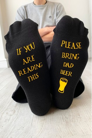 Personalised Bring Beer Socks by Solesmith