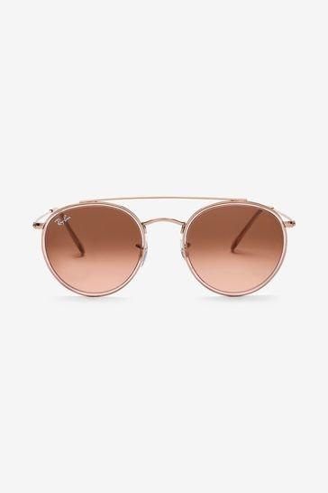 Ray-Ban® Rose Gold Round Sunglasses