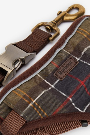 Barbour® Dog Classic Tartan Travel Harness And Lead
