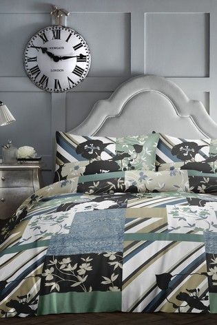 Tile Patchwork Duvet Cover and Pillowcase Set by D&D