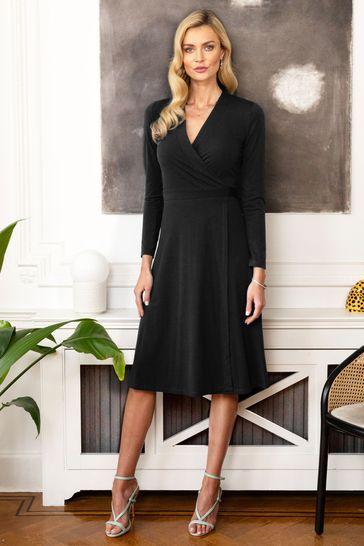 HotSquash Black The Wrap Dress