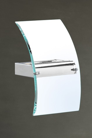 Clarte LED Bevelled Curved Wall Bracket by Searchlight