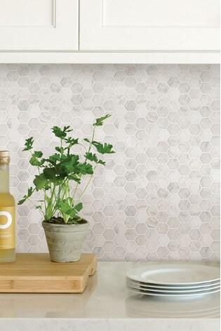 Wall Pops Hexagon Back Splash Tiles