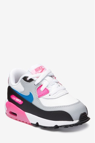 Nike WhitePink Air Max 90 Infant Trainers
