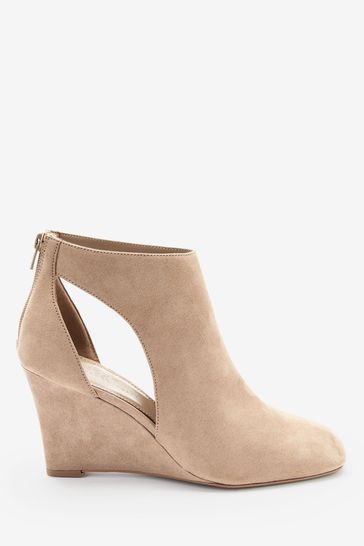 Sand Forever Comfort® Square Toe Wedge Boots