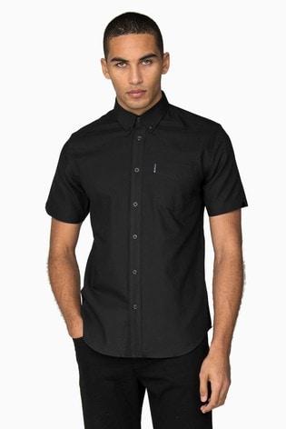 Ben Sherman Black Short Sleeve Oxford Shirt