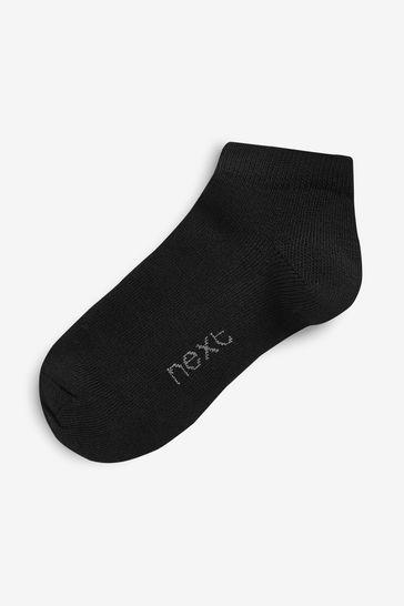 Black Trainer Socks Ten Pack (Older)