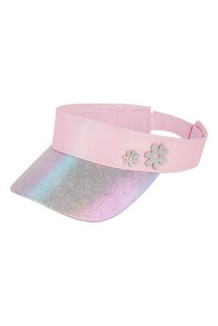 Monsoon Pink Metallic Rainbow Flower Visor