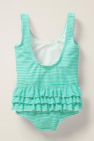 Boden Green Ruffle Appliqué Swimsuit