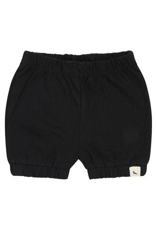 Turtledove London Black Organic Cotton Bloomer Shorts