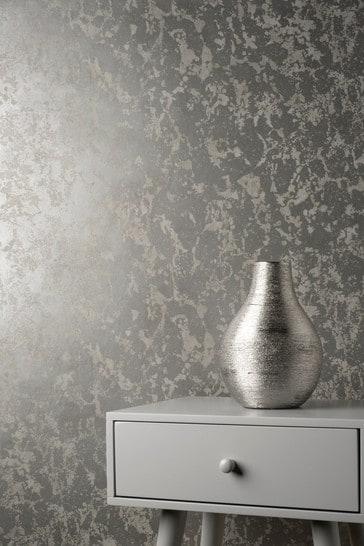 Decorline Silver Marble Wallpaper