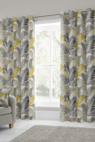 Tropical Eyelet Curtains by Fusion