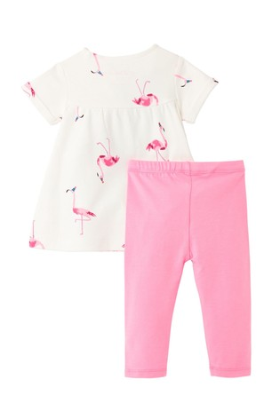 Joules Pink Perrie Tunic And Legging Set