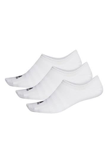 adidas Adult White Trainer Socks Three Pack