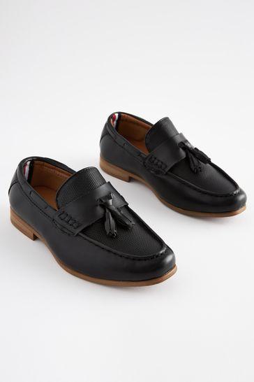 Black Tassel Loafers