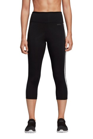 adidas Black D2M 3/4 Capri Leggings