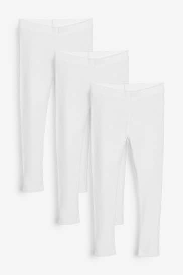 White 3 Pack Leggings (3-16yrs)