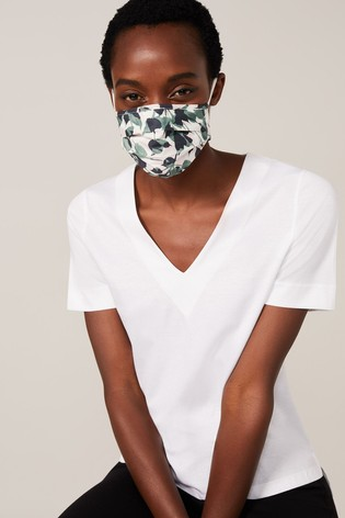 Phase Eight Green Larissa Leaf Face Covering