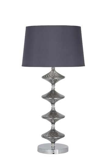 Gabby Metal & Grey Glass Table Lamp by Pacific