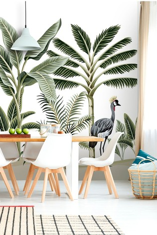 Exclusive To Next Two Crested Crane Wall Mural by Eighty Two