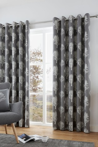 Woodland Trees Eyelet Curtains by Fusion