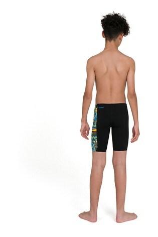 Speedo Black Allover Panel Jammer Shorts