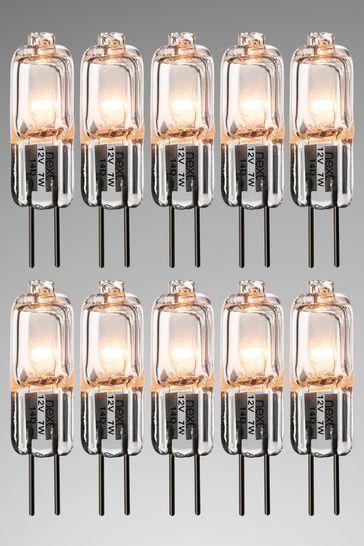 10 Pack 7W Halogen G4 Bulb