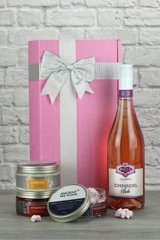 Zinfandel Rose & Pamper Products Gift Set by Le Bon Vin