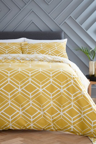 Network Geo Duvet Cover and Pillowcase Set by Catherine Lansfield
