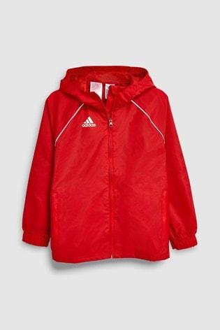 adidas Football Core Red Rain Jacket