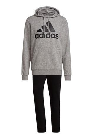 adidas Grey BOS Hooded Tracksuit