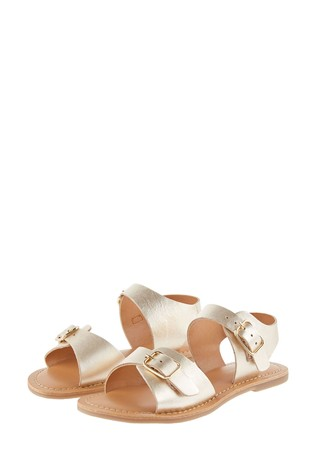 Monsoon Gold Buckle Leather Sandals
