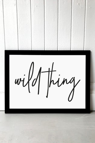 Wild Thing by Honeymoon Hotel Framed Print by East End Prints