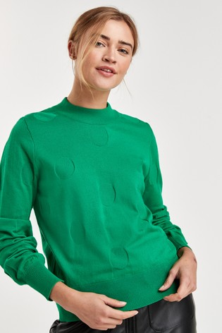 Green Patterned Jumper