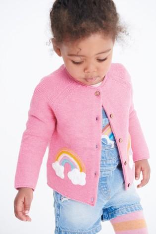 Pink Rainbow Cardigan (3mths-7yrs)
