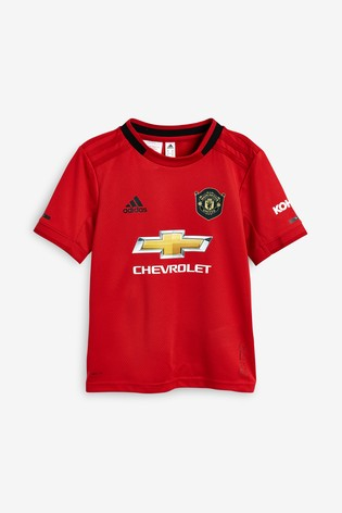Adidas Red Manchester United Fc 2019 20 Home Mini Kit