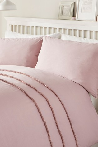 Tassels Duvet Cover And Pillowcase Set by Serene
