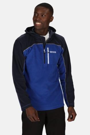 Regatta Blue Teasdale Hooded Half Zip Fleece