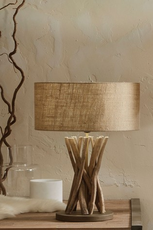Derna Driftwood & Natural Jute Table Lamp by Pacific