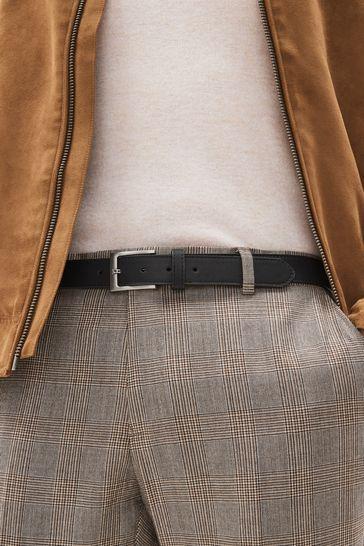 Black Stitched Edge Belt