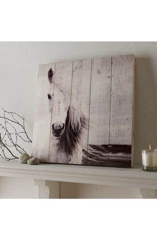 Horses Wooden Plaque by Art For The Home