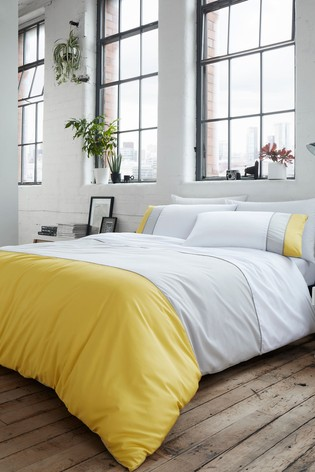 Lawson Block Stripe Duvet Cover And Pillowcase Set by Racing Green