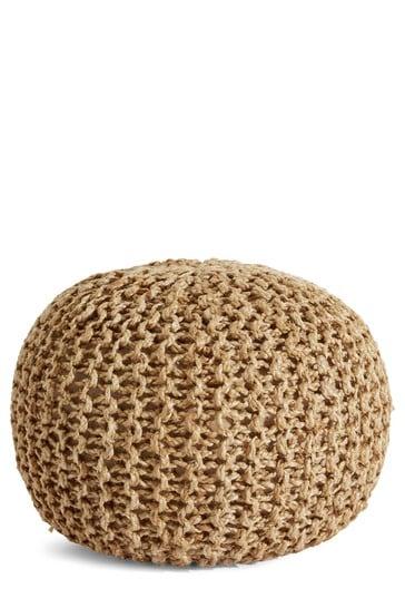 Knitted Jute Pouffe
