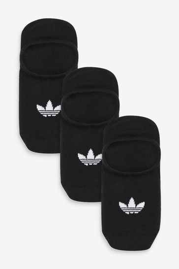 adidas Originals Adults Black No Show Socks Three Pack