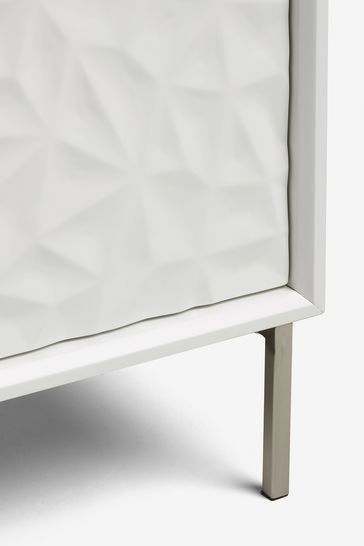 Mode White Textured Large Sideboard
